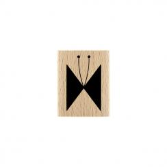 PROMO de -99.99% sur Tampon bois PAPILLON LIGNÉ Florilèges Design