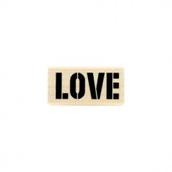 Tampon bois LOVE BRUT par Florilèges Design. Scrapbooking et loisirs créatifs. Livraison rapide et cadeau dans chaque commande.