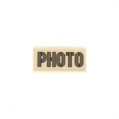 Tampon bois PHOTO BRUT par Florilèges Design. Scrapbooking et loisirs créatifs. Livraison rapide et cadeau dans chaque commande.