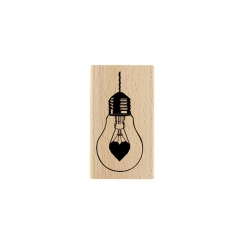 Tampon bois ÉCLAIRE MOI par Florilèges Design. Scrapbooking et loisirs créatifs. Livraison rapide et cadeau dans chaque comma...