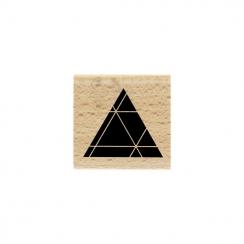 Tampon bois Triangle Noir