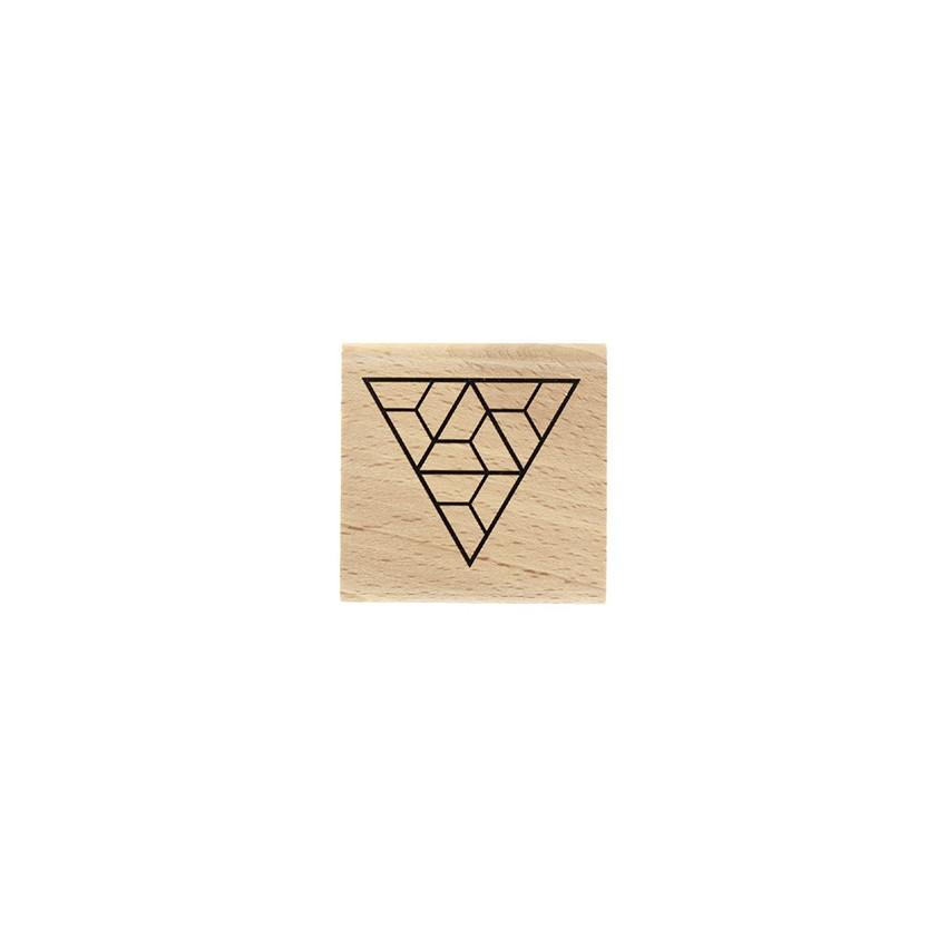 PROMO de -99.99% sur Tampon bois TRIANGLE LABYRINTHE Florilèges Design