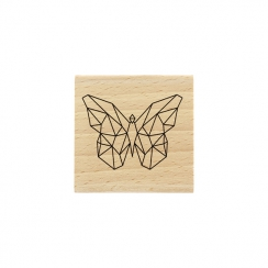 Tampon bois Papillon Origami