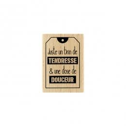 Tampon bois JUSTE UN BRIN par Florilèges Design. Scrapbooking et loisirs créatifs. Livraison rapide et cadeau dans chaque com...