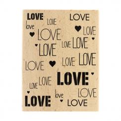PROMO de -99.99% sur Tampon bois FOND LOVE Florilèges Design