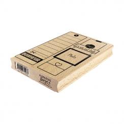Tampon bois Deux Grandes Étiquettes
