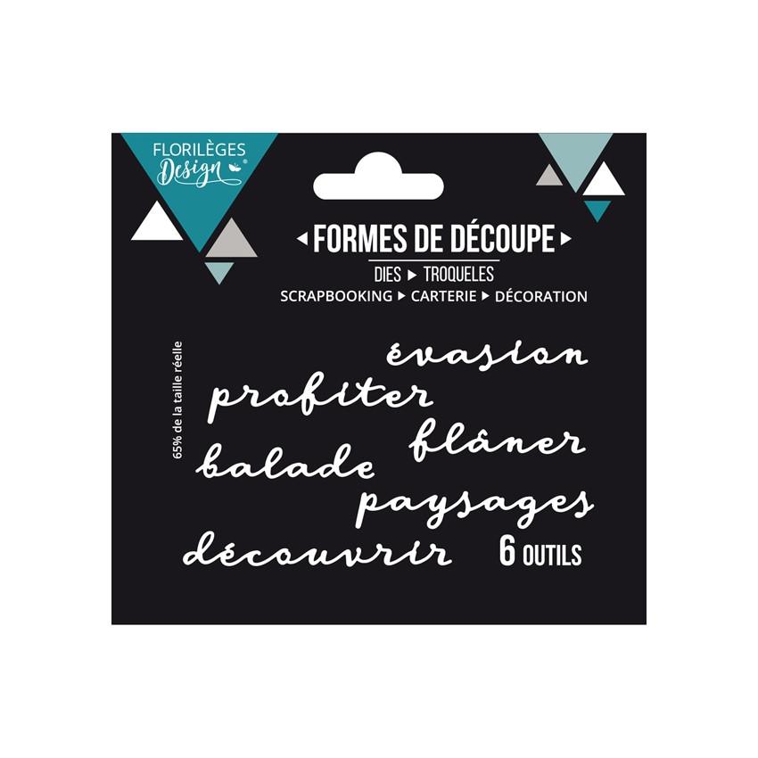 Outils de découpe FLÂNER par Florilèges Design. Scrapbooking et loisirs créatifs. Livraison rapide et cadeau dans chaque comm...