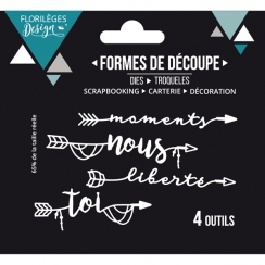 Outils de découpe MOMENTS DE LIBERTÉ par Florilèges Design. Scrapbooking et loisirs créatifs. Livraison rapide et cadeau dans...