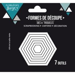 Outils de découpe HEXAGONES BASIQUES par Florilèges Design. Scrapbooking et loisirs créatifs. Livraison rapide et cadeau dans...