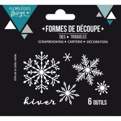 Outils de découpe HIVER FLOCONNÉ par Florilèges Design. Scrapbooking et loisirs créatifs. Livraison rapide et cadeau dans cha...