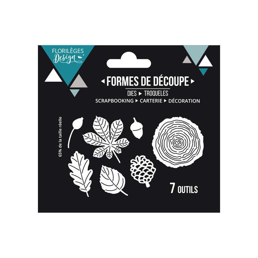 Outils de découpe DANS LES BOIS par Florilèges Design. Scrapbooking et loisirs créatifs. Livraison rapide et cadeau dans chaq...