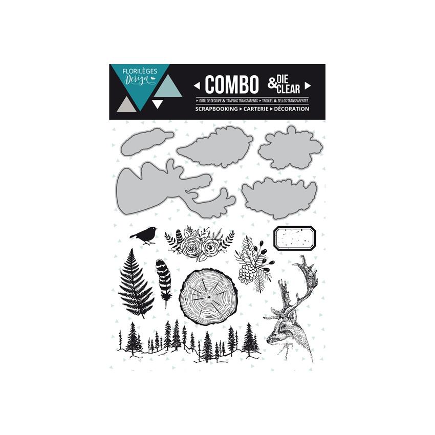Combo Clear Die INTO THE WOODS par Florilèges Design. Scrapbooking et loisirs créatifs. Livraison rapide et cadeau dans chaqu...