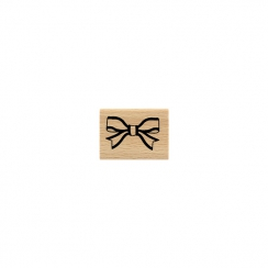 Tampon bois NŒUD CHIC par Florilèges Design. Scrapbooking et loisirs créatifs. Livraison rapide et cadeau dans chaque commande.