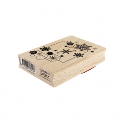 Tampon bois ENVOL DE FLOCONS
