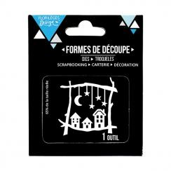 Outils de découpe SOUS LES ÉTOILES - Capsule Fin d'Année 2017 par Florilèges Design. Scrapbooking et loisirs créatifs. Livrai...
