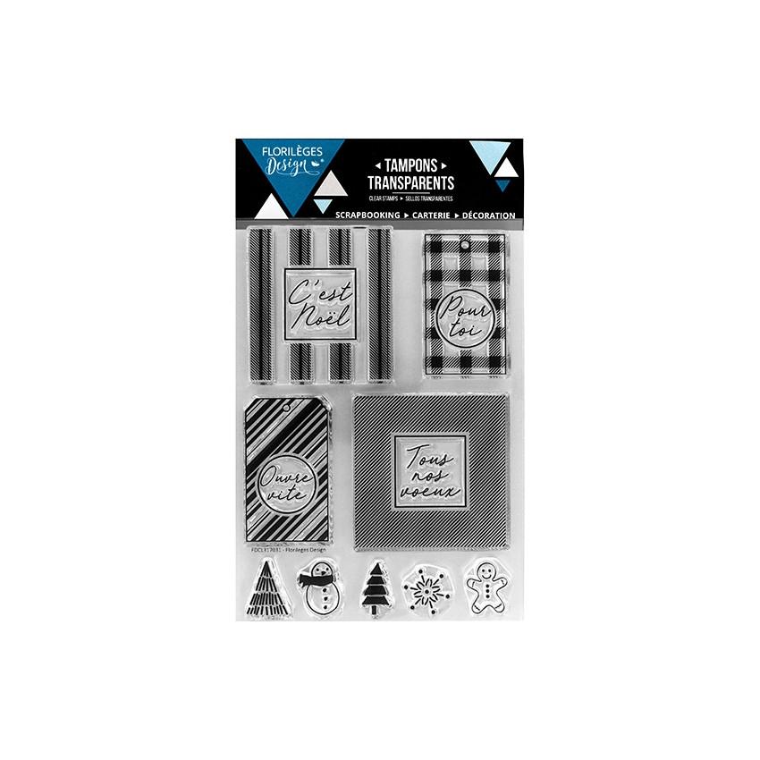 PROMO de -99.99% sur Tampons clear NOS MEILLEURS VŒUX Florilèges Design