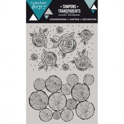 PROMO de -60% sur Tampons clear BOIS DE ROSE Florilèges Design