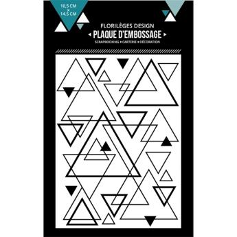 Plaque d'embossage MIX DE TRIANGLES X3