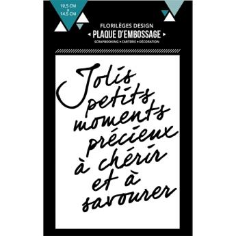 Plaque d'embossage MOMENTS À CHÉRIR X3