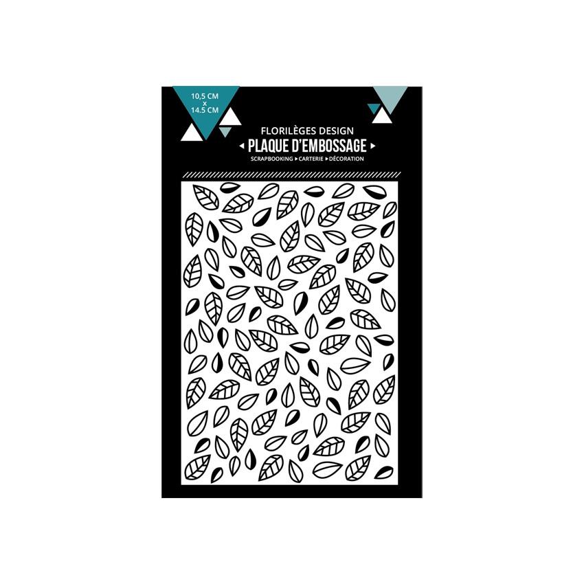 Plaque d'embossage FEUILLES EMMÊLÉES par Florilèges Design. Scrapbooking et loisirs créatifs. Livraison rapide et cadeau dans...