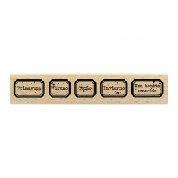 Tampon bois espagnol ETIQUETAS DE LAS ESTACIONES par Florilèges Design. Scrapbooking et loisirs créatifs. Livraison rapide et...