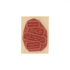 Tampon bois espagnol APROVECHAR A TOPE par Florilèges Design. Scrapbooking et loisirs créatifs. Livraison rapide et cadeau da...