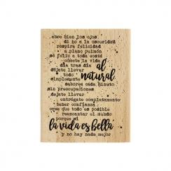 Tampon bois espagnol AL NATURAL par Florilèges Design. Scrapbooking et loisirs créatifs. Livraison rapide et cadeau dans chaq...