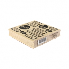Tampon bois espagnol DULCES PASEOS par Florilèges Design. Scrapbooking et loisirs créatifs. Livraison rapide et cadeau dans c...