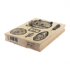 Tampon bois espagnol PERFUME DE LOS BOSQUES par Florilèges Design. Scrapbooking et loisirs créatifs. Livraison rapide et cade...