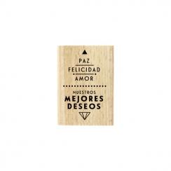 Tampon bois espagnol PAZ Y AMOR par Florilèges Design. Scrapbooking et loisirs créatifs. Livraison rapide et cadeau dans chaq...
