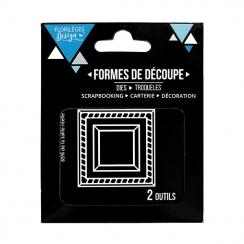 Outils de découpe DEUX CADRES par Florilèges Design. Scrapbooking et loisirs créatifs. Livraison rapide et cadeau dans chaque...