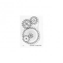 Tampon clear ROUAGES DU TEMPS par Florilèges Design. Scrapbooking et loisirs créatifs. Livraison rapide et cadeau dans chaque...