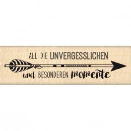 Tampon bois allemand ALL DIESE AUGENBLICKE par Florilèges Design. Scrapbooking et loisirs créatifs. Livraison rapide et cadea...