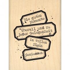 Commandez Tampon bois allemand WIRKLICH GENIESSEN Florilèges Design. Livraison rapide et cadeau dans chaque commande.