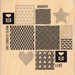 Tampon bois allemand SKANDINAVISHE INSPIRATION par Florilèges Design. Scrapbooking et loisirs créatifs. Livraison rapide et c...
