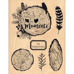 Tampon bois allemand IM UNTERHOLZ par Florilèges Design. Scrapbooking et loisirs créatifs. Livraison rapide et cadeau dans ch...