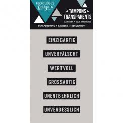 PROMO de -99.99% sur Tampons clear allemand MINIWÖRTER 1 Florilèges Design