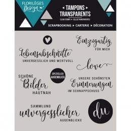 Tampons clear allemand LEBENSABSCHNITTE par Florilèges Design. Scrapbooking et loisirs créatifs. Livraison rapide et cadeau d...