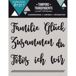 Tampons clear allemand KLEINE WORTE 1 X3