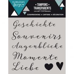 Tampons clear allemand KLEINE WORTE 2 X3