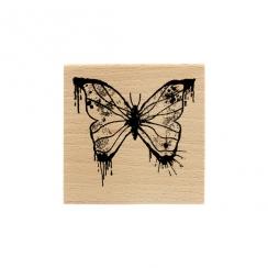 Tampon bois PAPILLON PEINT par Florilèges Design. Scrapbooking et loisirs créatifs. Livraison rapide et cadeau dans chaque co...