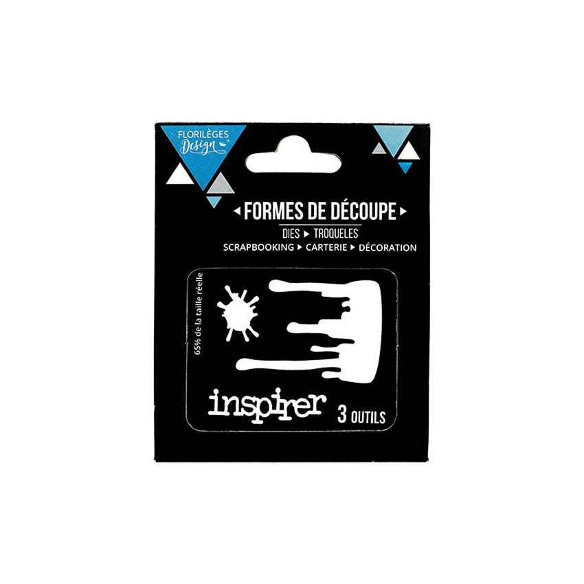 Outils de découpe INSPIRER par Florilèges Design. Scrapbooking et loisirs créatifs. Livraison rapide et cadeau dans chaque co...