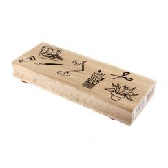 PROMO de -99.99% sur Tampon bois MOMENTS CRÉATIFS Florilèges Design