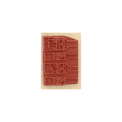 Tampon bois QUATRE PINCEAUX par Florilèges Design. Scrapbooking et loisirs créatifs. Livraison rapide et cadeau dans chaque c...