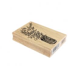 Tampon bois BOUQUET DE FEUILLAGES