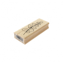 Tampon bois DOUX FEUILLAGE par Florilèges Design. Scrapbooking et loisirs créatifs. Livraison rapide et cadeau dans chaque co...