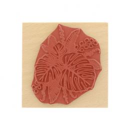 Tampon bois COMPOSITION DE FEUILLES