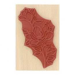 Tampon bois FLEUR ET BOUTONS par Florilèges Design. Scrapbooking et loisirs créatifs. Livraison rapide et cadeau dans chaque ...