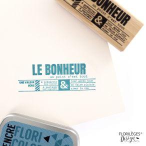 Tampon bois UN POINT C'EST TOUT par Florilèges Design. Scrapbooking et loisirs créatifs. Livraison rapide et cadeau dans chaq...