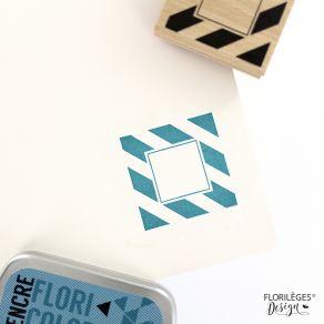 Tampon bois CADRE LARGES LIGNES par Florilèges Design. Scrapbooking et loisirs créatifs. Livraison rapide et cadeau dans chaq...